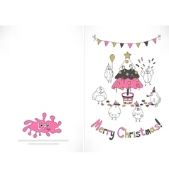 Ready to print Christmas card vector