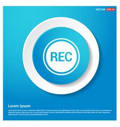 recording icon vector image