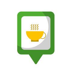 Restaurant social media square pointer web vector