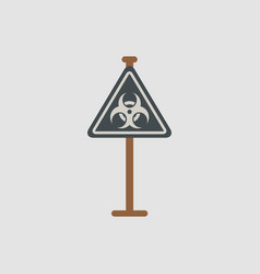 road sign with an radioactive symbol vector image