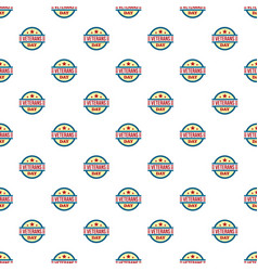round veterans day pattern seamless vector image