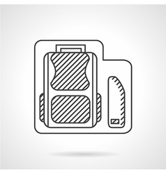 School bag with pencils box line icon vector image