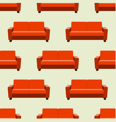 Seamless pattern with sofas on background vector
