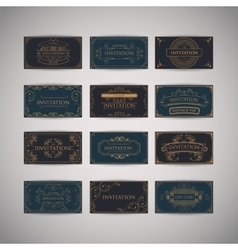 Set Of Vintage Luxury Greeting Restaurant Menu vector image