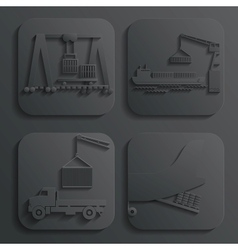 shipment set vector image