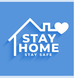 Stay home and stay safe concept poster design vector