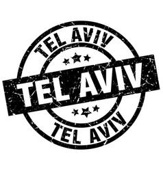 Tel aviv black round grunge stamp vector