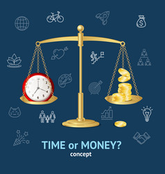 time or money concept vector image