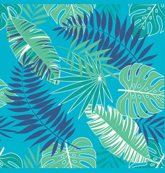tropical summer pattern with light blue background vector image