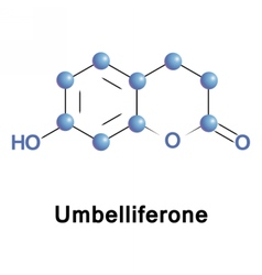 Umbelliferone ultraviolet fluorescence absorber vector