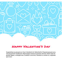 valentines day concept banner with love icons in vector image
