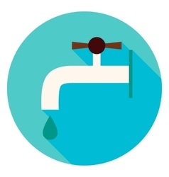 Water Faucet Circle Icon vector