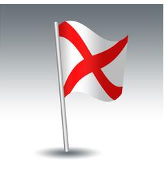 Waving maritime signal flag v victor vector