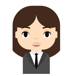 Woman avatar with smiling face female cartoon vector