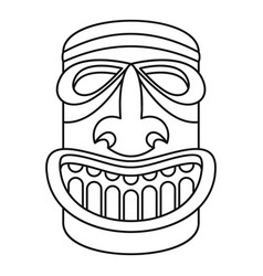wood idol icon outline style vector image