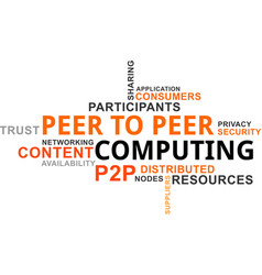 Word cloud - p2p computing vector
