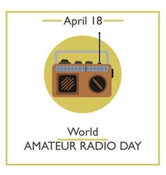 World Amateur Radio Day vector image