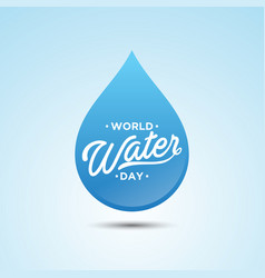 world water day droplet vector image