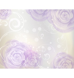 Pastel colored background with purple roses vector image vector image