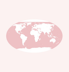 world map pink globe vector image vector image