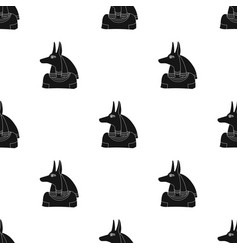 Anubis icon in black style isolated on white vector