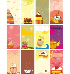 Card Set Sweet Love vector image