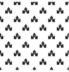 fairytale castle pattern vector image vector image