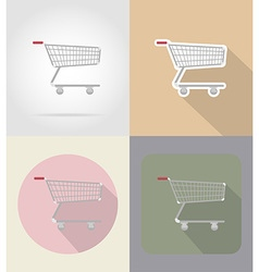 Food objects flat icons 16 vector