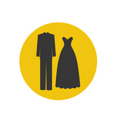 groom costume and bride dress vector image
