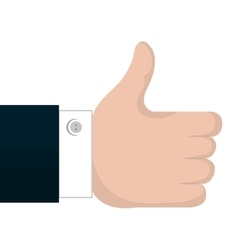like hand concept design vector image