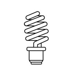 line save energy light bulb vector image vector image