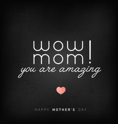 mothers day minimal greeting card in vintage style vector image vector image