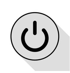 on off switch sign black icon with flat style vector image