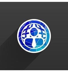 Population of the world society symbol vector