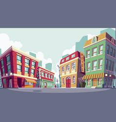 cartoon of the historic urban vector image