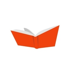 Open Red Book Icon vector image