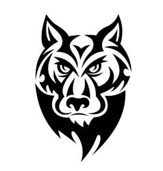 Wild wolf vector image vector image