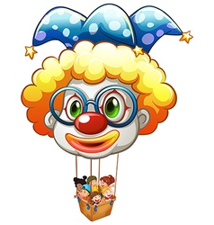 A big balloon with a basket vector image