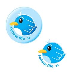 follow me bird vector image vector image