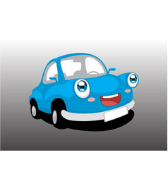 funny blue car vector image vector image