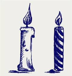 Set candles vector image vector image