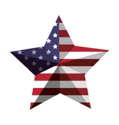 3d American flag star icon vector image