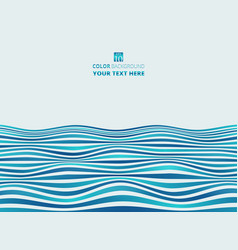 abstract of gradient blue stripe wave pattern vector image