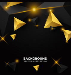 Abstract shiny black triangle background 3d vector