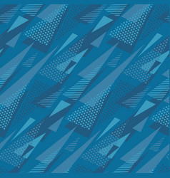 Abstract triangle motif marine blue color vector