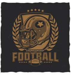 American football t-shirt label design vector