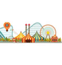 Amusement park circus vector