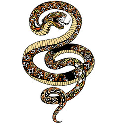 Angry snake tattoo vector