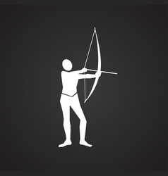 archer on black background vector image