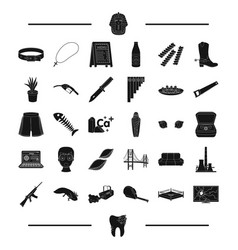 Architecture tool and other web icon in black vector